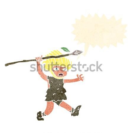 cartoon startled man with speech bubble Stock photo © lineartestpilot