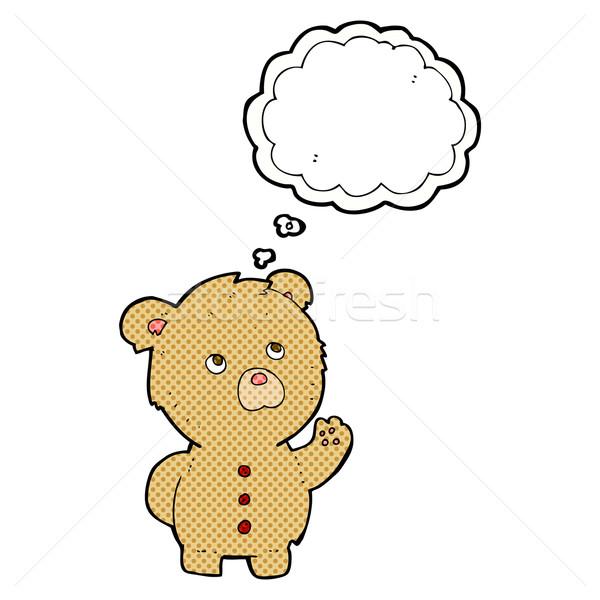 Karikatür oyuncak ayı düşünce balonu el dizayn Stok fotoğraf © lineartestpilot