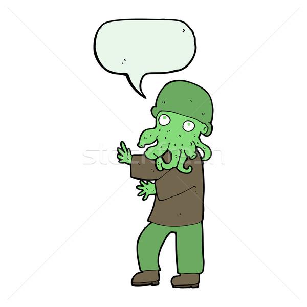 漫画 外国 男 吹き出し 手 デザイン ストックフォト © lineartestpilot
