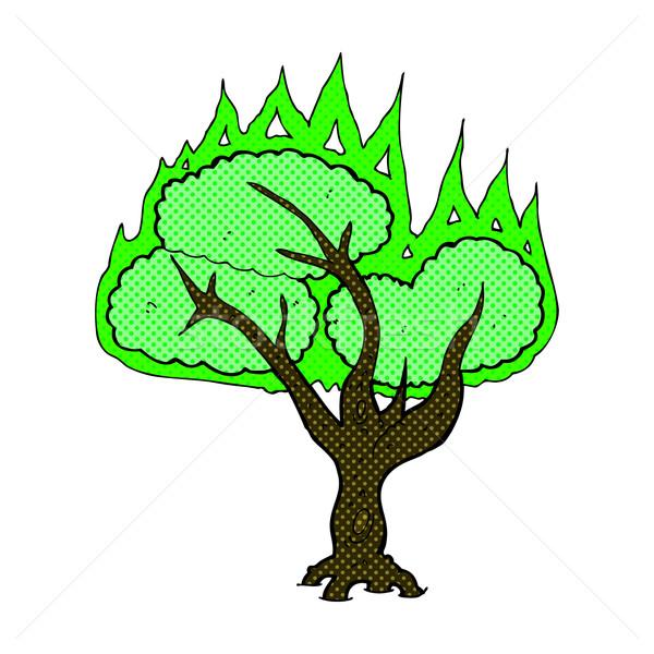 comic cartoon spooky burning tree Stock photo © lineartestpilot
