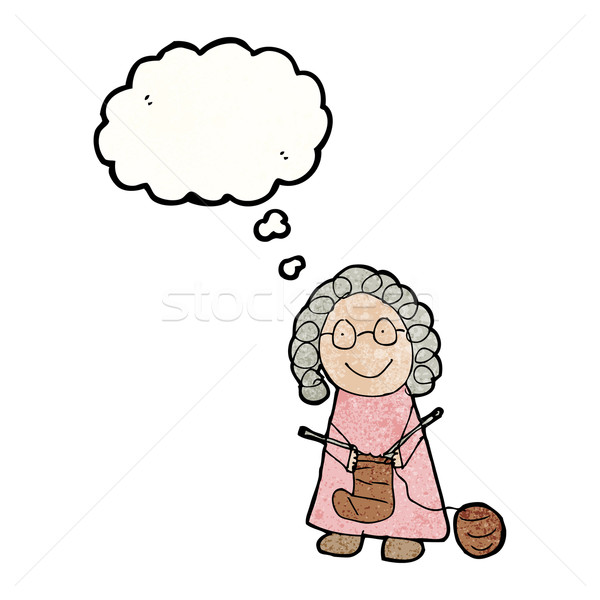 child's drawing of an old woman knitting Stock photo © lineartestpilot