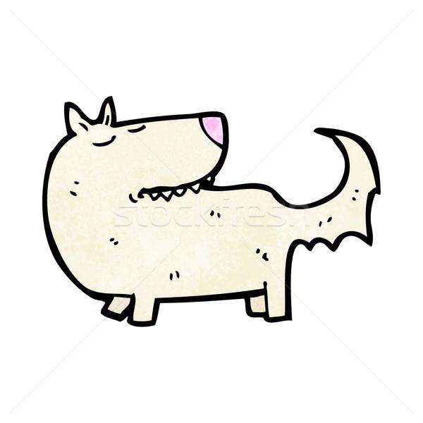 Kút képzett kutya rajz retro rajz Stock fotó © lineartestpilot