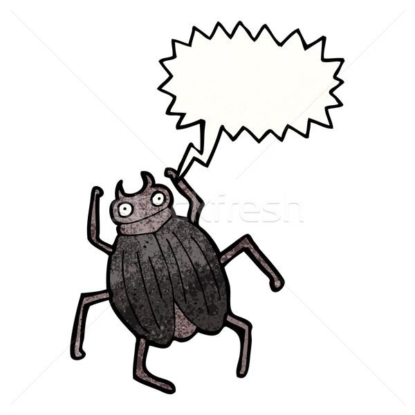 Rajz óriás rovar művészet retro rajz Stock fotó © lineartestpilot