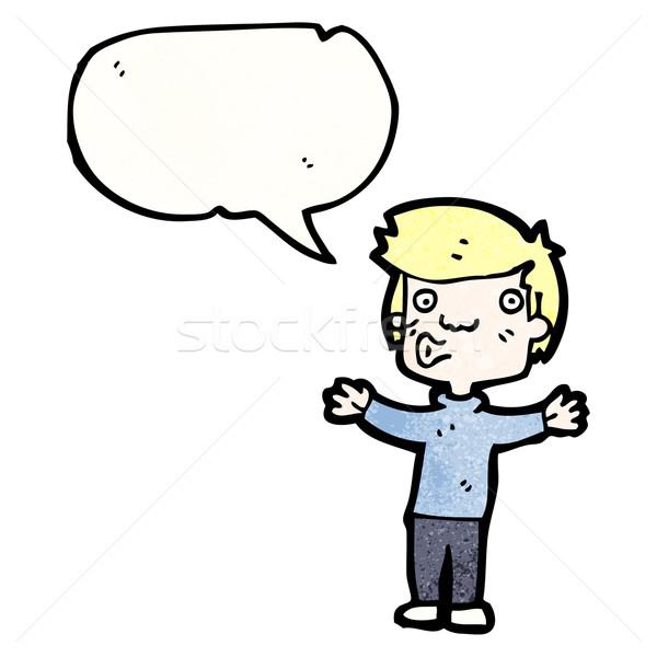 cartoon whistling boy Stock photo © lineartestpilot