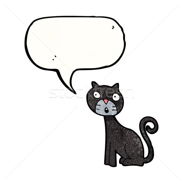 cartoon black cat Stock photo © lineartestpilot