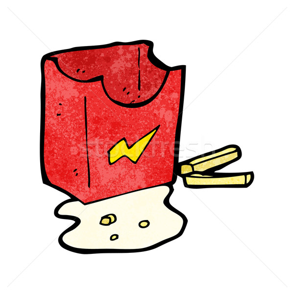 greasy junk food cartoon Stock photo © lineartestpilot