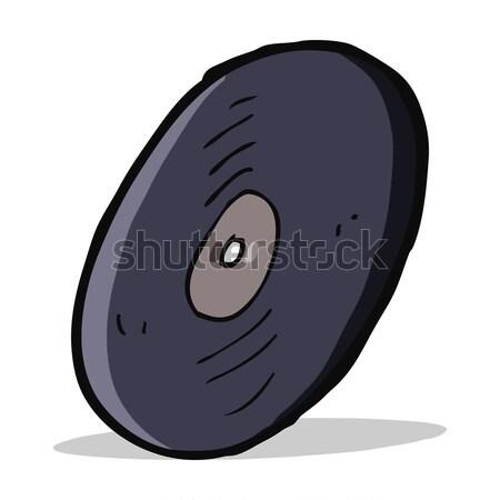 cartoon vinyl record Stock photo © lineartestpilot