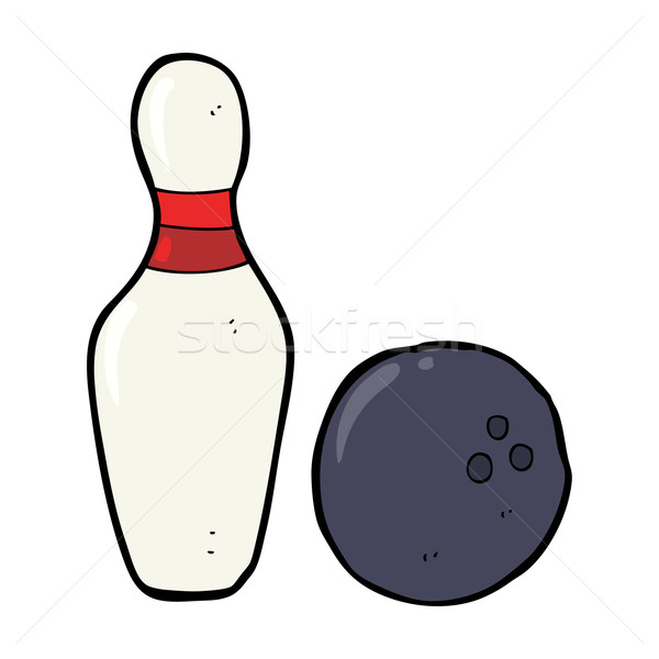 ten pin bowling cartoon Stock photo © lineartestpilot
