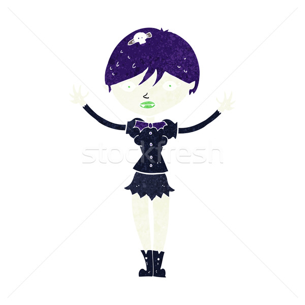 漫画 吸血鬼 少女 女性 デザイン 芸術 ストックフォト © lineartestpilot