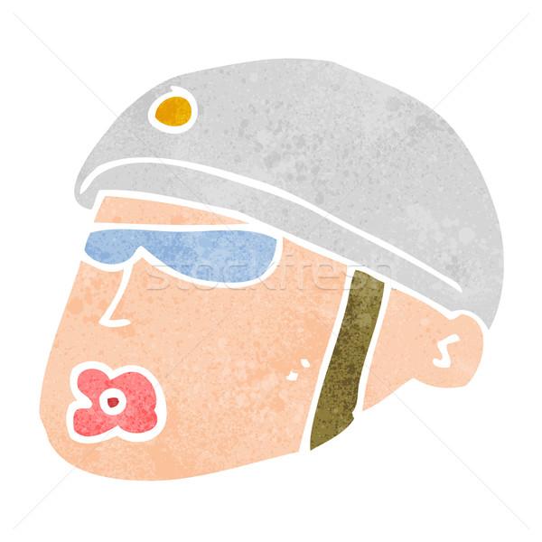 cartoon policeman head Stock photo © lineartestpilot
