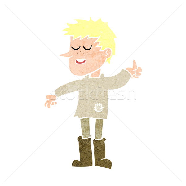 cartoon poor boy with positive attitude Stock photo © lineartestpilot