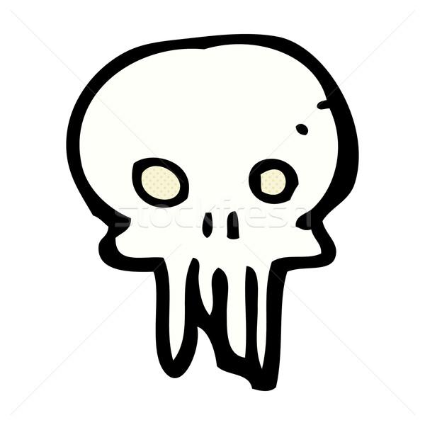 comic cartoon spooky skull symbol Stock photo © lineartestpilot