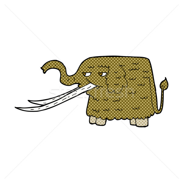 comic cartoon woolly mammoth Stock photo © lineartestpilot