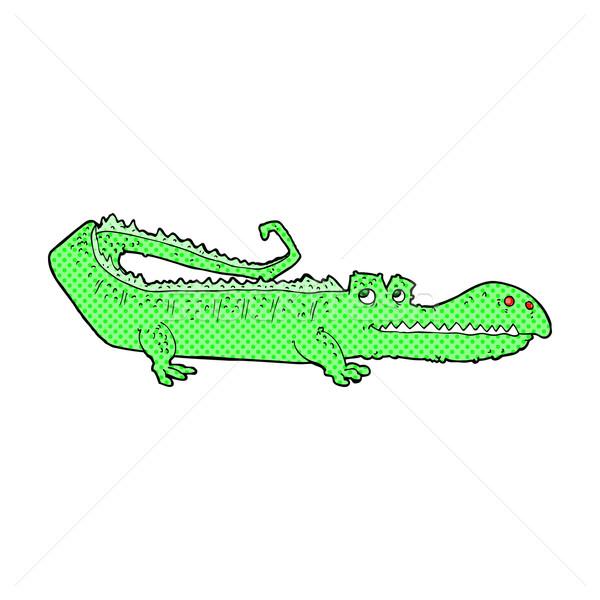 комического Cartoon крокодила ретро стиль Сток-фото © lineartestpilot