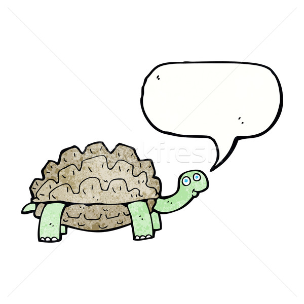 cartoon tortoise with speech bubble Stock photo © lineartestpilot