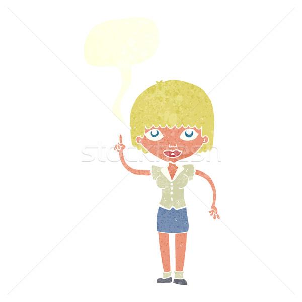 Cartoon vrouw idee tekstballon hand ontwerp vector illustratie lineartestpilot - Idee schilderen ruimte ontwerp ...