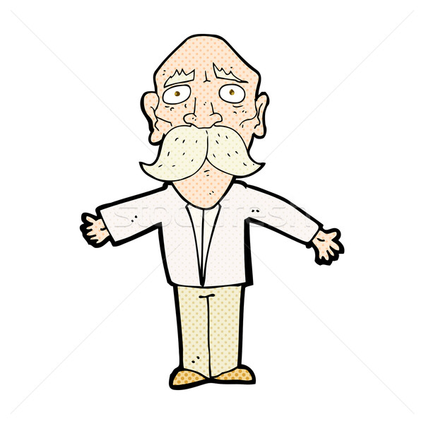 comic cartoon disappointed old man Stock photo © lineartestpilot