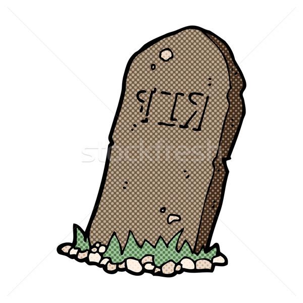comic cartoon spooky grave Stock photo © lineartestpilot