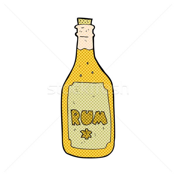 Komik karikatür rom şişe Retro Stok fotoğraf © lineartestpilot