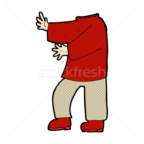 comic cartoon male body (mix and match comic cartoons or add own Stock photo © lineartestpilot