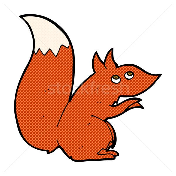 comic cartoon red squirrel Stock photo © lineartestpilot