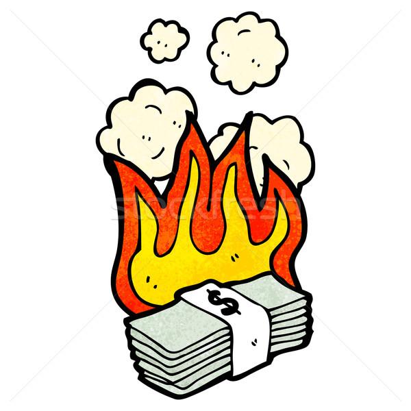 cartoon burning money Stock photo © lineartestpilot
