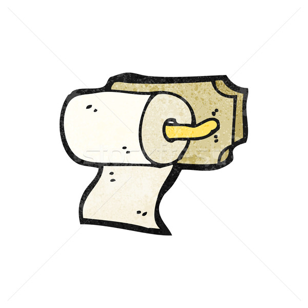 loo roll holder cartoon Stock photo © lineartestpilot