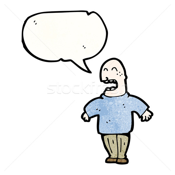 bald man talking loudly Stock photo © lineartestpilot