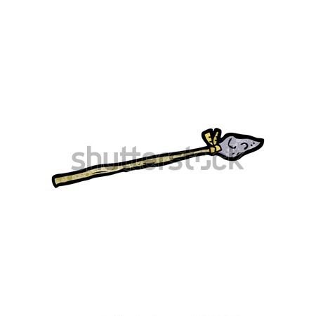 Cartoon lance rétro dessin cute illustration Photo stock © lineartestpilot