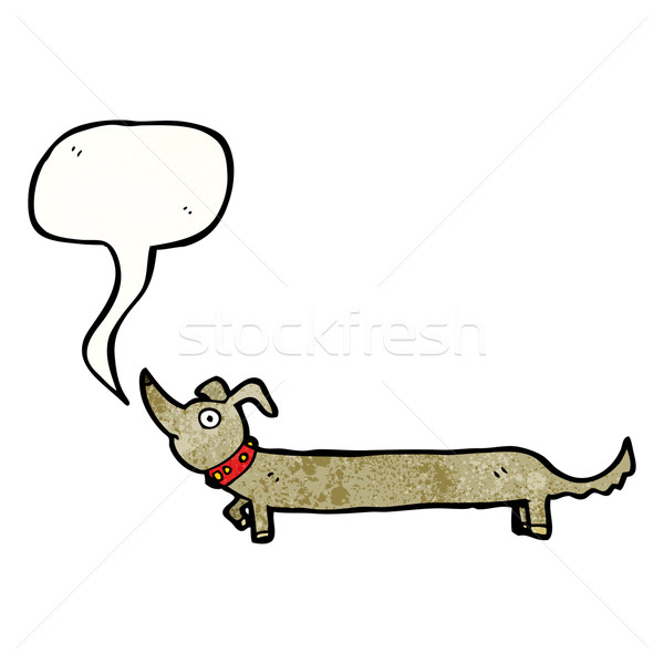 Cartoon worst hond retro textuur geïsoleerd Stockfoto © lineartestpilot