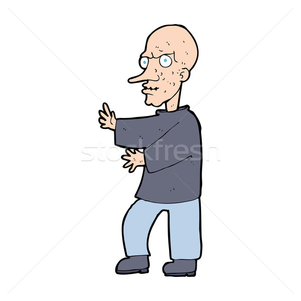 cartoon mean looking man Stock photo © lineartestpilot