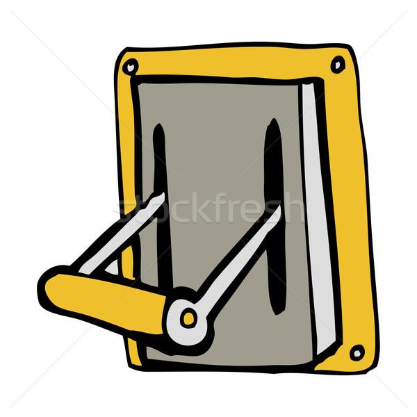 Cartoon industrial máquina palanca mano diseno Foto stock © lineartestpilot