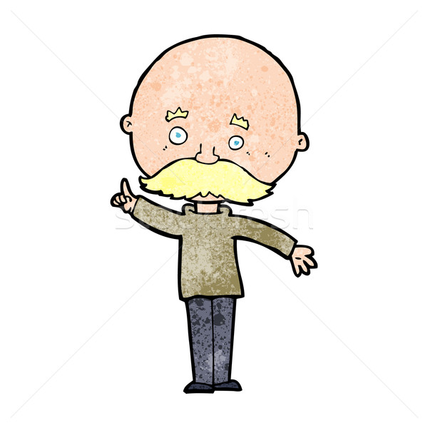 cartoon bald man with idea Stock photo © lineartestpilot