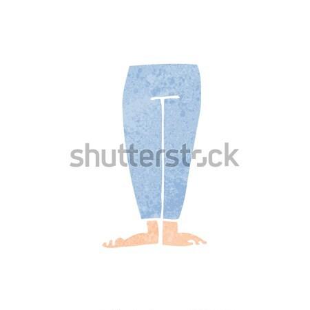 Cartoon femenino piernas diseno arte retro Foto stock © lineartestpilot