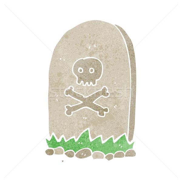 Cartoon grobu strony projektu crazy cmentarz Zdjęcia stock © lineartestpilot