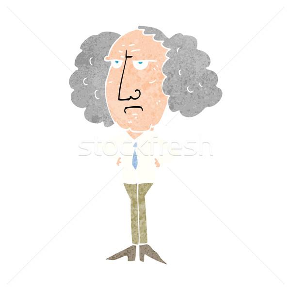 Rajz nagy haj előadó férfi kéz Stock fotó © lineartestpilot