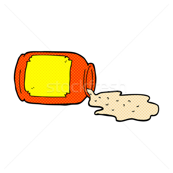 comic cartoon spilled jar Stock photo © lineartestpilot