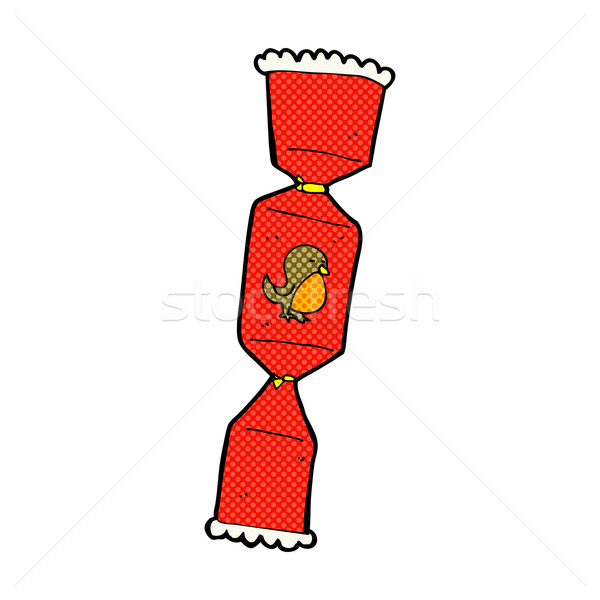 Christmas Cracker Vector.Comic Cartoon Christmas Cracker Vector Illustration