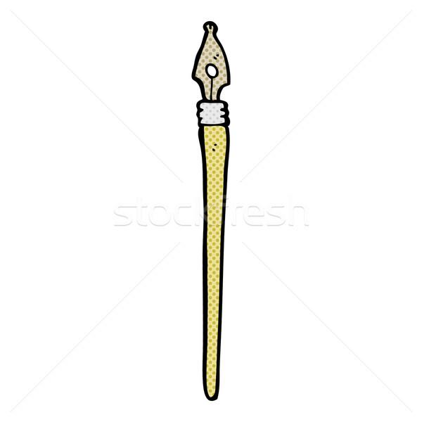 comic cartoon ink pen Stock photo © lineartestpilot