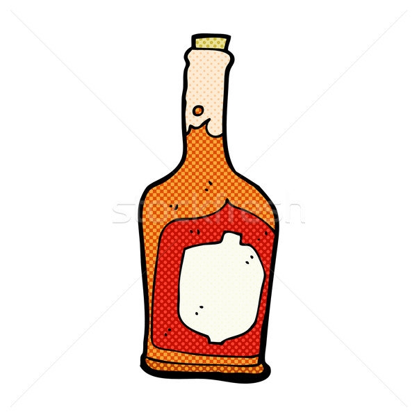 Komik karikatür şişe rom Retro Stok fotoğraf © lineartestpilot