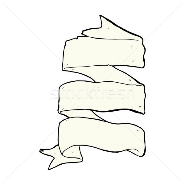Képregény rajz három réteg tekercs szalag Stock fotó © lineartestpilot