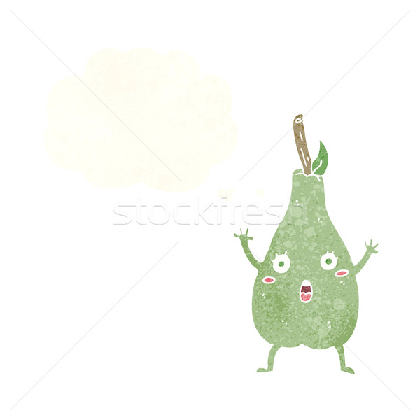 Cartoon bange peer gedachte bel hand ontwerp Stockfoto © lineartestpilot