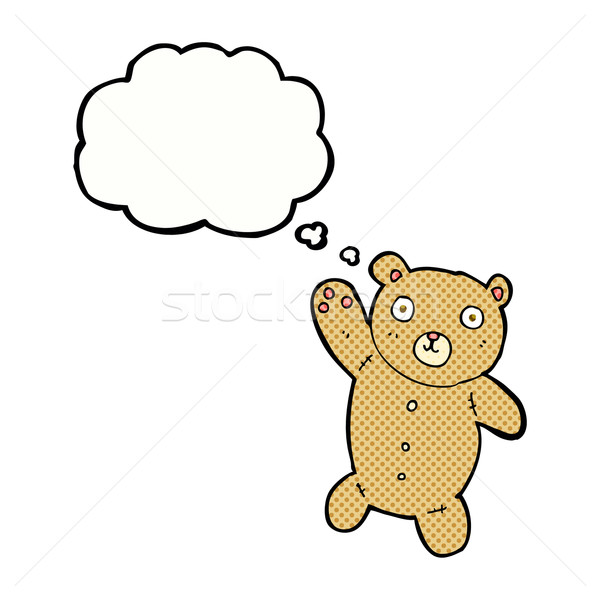 cartoon cute teddy bear with thought bubble Stock photo © lineartestpilot
