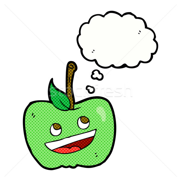 cartoon apple with thought bubble Stock photo © lineartestpilot