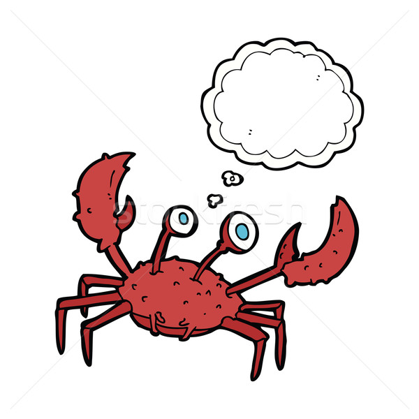 cartoon crab with thought bubble Stock photo © lineartestpilot