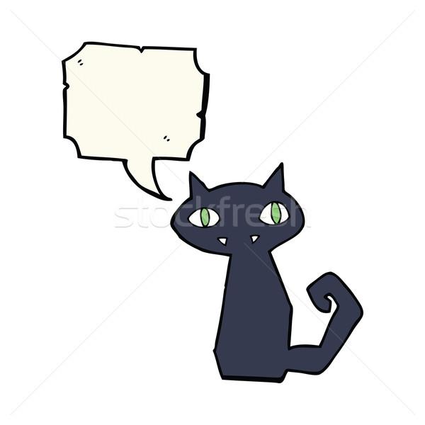 漫画 黒猫 吹き出し 手 デザイン 芸術 ストックフォト © lineartestpilot