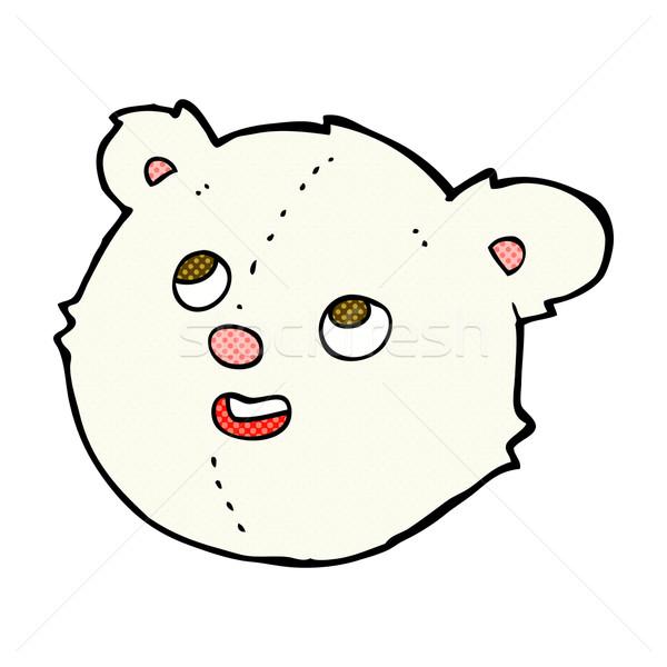 Cômico desenho animado urso polar cara retro Foto stock © lineartestpilot