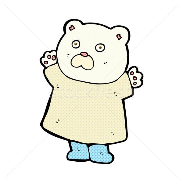 Funny cómico Cartoon oso polar retro Foto stock © lineartestpilot