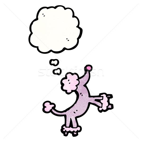 Rajz ugrik uszkár beszél retro gondolkodik Stock fotó © lineartestpilot