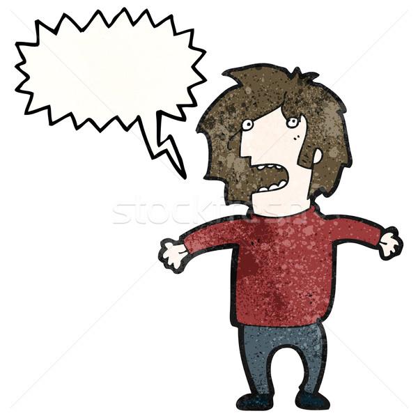 Stock photo: cartoon man explaining